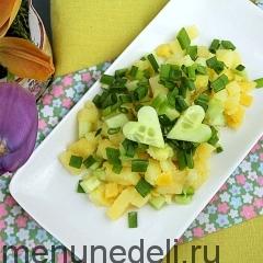 Салат из картофеля с огурцами как в детском саду