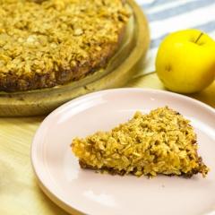Пирог с яблоками без муки