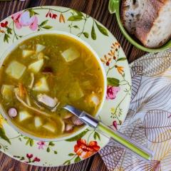 Гороховый суп в мультиварке (из замороженного горошка)