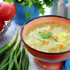 Рисовый суп с квашеной капустой