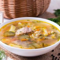 Суп с сардинами и булгуром