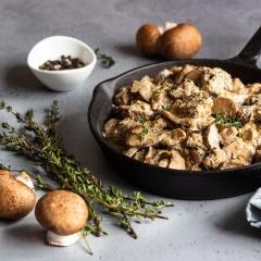 Рагу из свинины с грибами