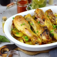 Курица карри с картошкой