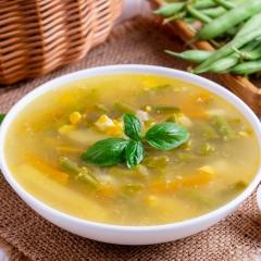 Суп со стручковой фасолью и яйцом