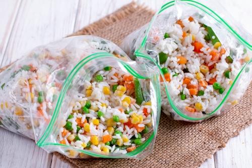 Как заморозить овощную смесь с рисом