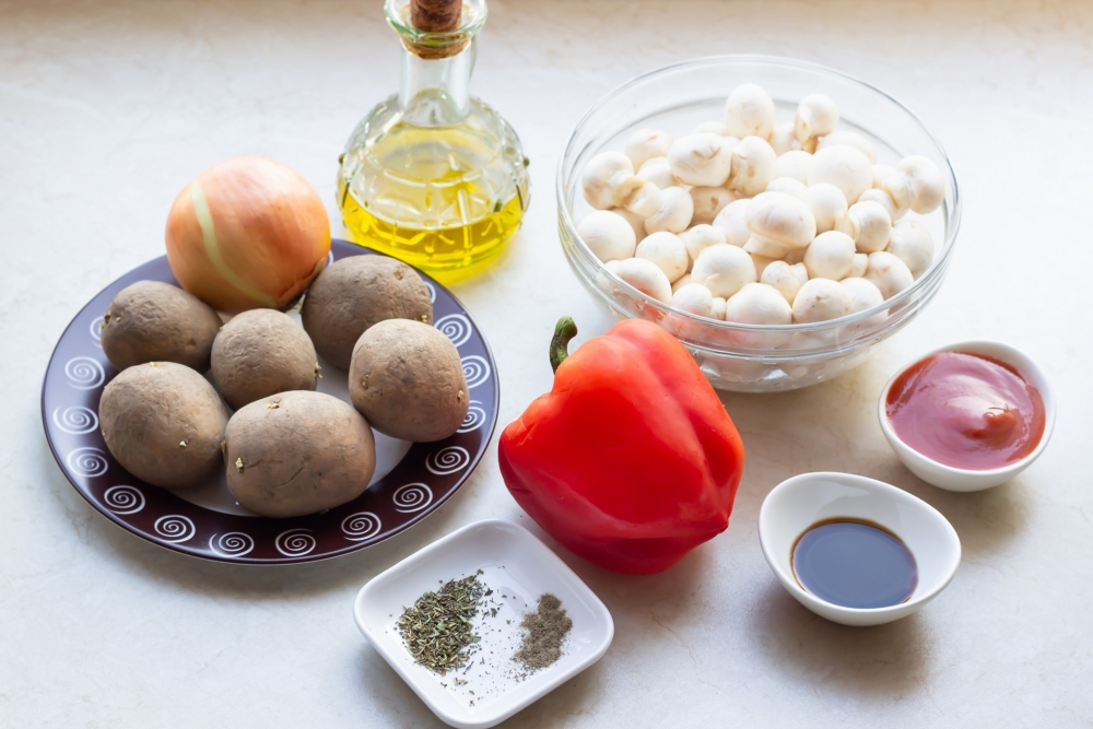 Картофельная запеканка с грибами калории
