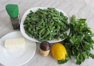 Ингредиенты для приготовления стручковой фасоли