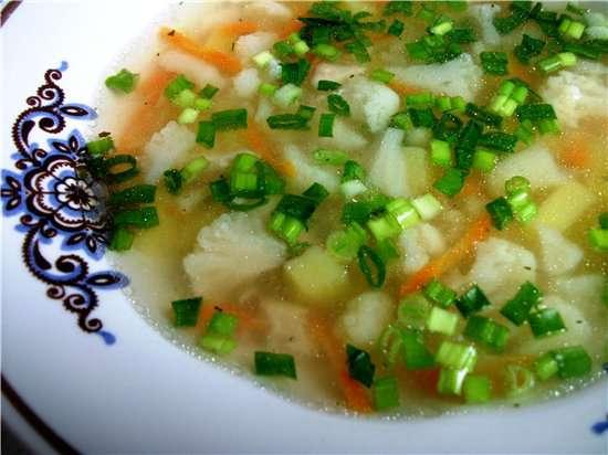 Суп из цветной капусты фото.