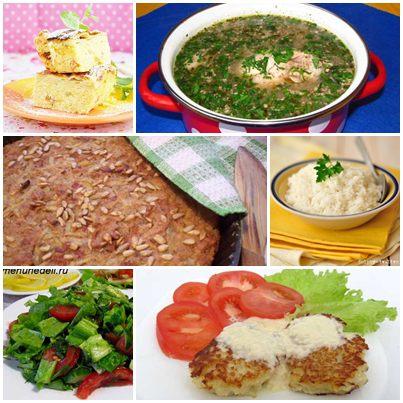 Творожная запеканка с вермишелью харчо из курицы картофельная лепешка котлеты из цветной капусты рис салат из салата