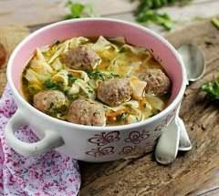 Домашний суп-лапша с фрикадельками