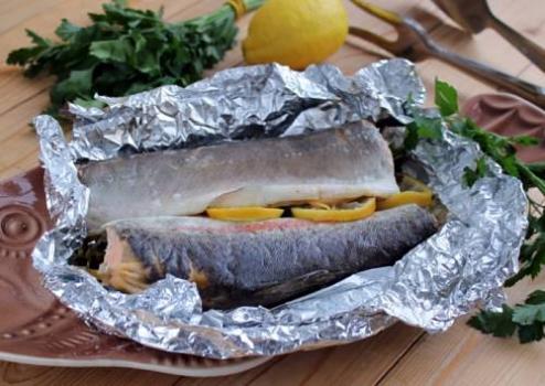 Рыба в фольге в мультиварке пошаговый рецепт