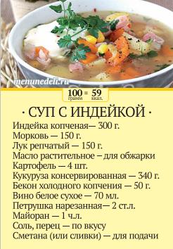 Суп из индейки рецепты отзывы