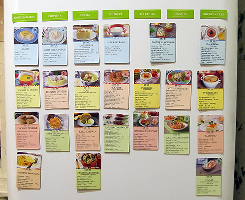 экономное меню правильного питания для похудения