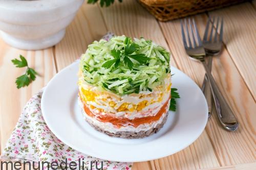 Салат с языком рецепт с слоями