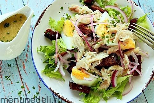 Салат с копченой скумбрией рецепт с очень вкусный